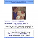 prospectus Cours pour maman ou papa avec bébé
